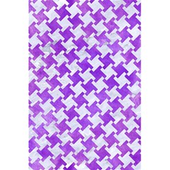 Houndstooth2 White Marble & Purple Watercolor 5 5  X 8 5  Notebooks by trendistuff