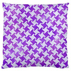 Houndstooth2 White Marble & Purple Watercolor Large Cushion Case (two Sides) by trendistuff