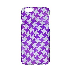 Houndstooth2 White Marble & Purple Watercolor Apple Iphone 6/6s Hardshell Case by trendistuff