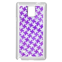 Houndstooth2 White Marble & Purple Watercolor Samsung Galaxy Note 4 Case (white) by trendistuff