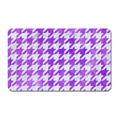 Houndstooth1 White Marble & Purple Watercolor Magnet (rectangular) by trendistuff