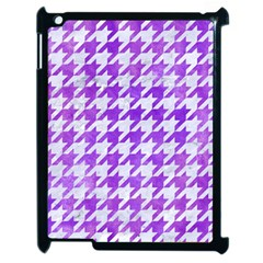 Houndstooth1 White Marble & Purple Watercolor Apple Ipad 2 Case (black) by trendistuff