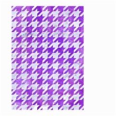 Houndstooth1 White Marble & Purple Watercolor Small Garden Flag (two Sides) by trendistuff