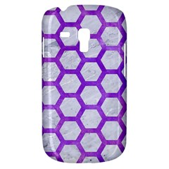Hexagon2 White Marble & Purple Watercolor (r) Galaxy S3 Mini by trendistuff
