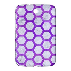 Hexagon2 White Marble & Purple Watercolor (r) Samsung Galaxy Note 8 0 N5100 Hardshell Case  by trendistuff