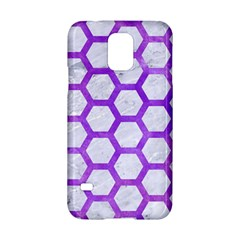 Hexagon2 White Marble & Purple Watercolor (r) Samsung Galaxy S5 Hardshell Case  by trendistuff