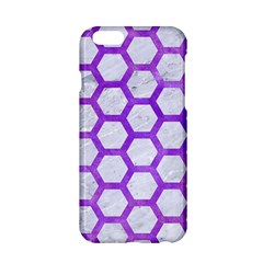 Hexagon2 White Marble & Purple Watercolor (r) Apple Iphone 6/6s Hardshell Case by trendistuff