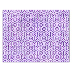 Hexagon1 White Marble & Purple Watercolor (r) Rectangular Jigsaw Puzzl by trendistuff
