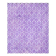 Hexagon1 White Marble & Purple Watercolor (r) Shower Curtain 60  X 72  (medium)  by trendistuff