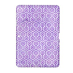 Hexagon1 White Marble & Purple Watercolor (r) Samsung Galaxy Tab 2 (10 1 ) P5100 Hardshell Case  by trendistuff