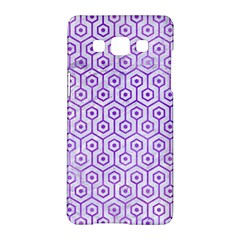 Hexagon1 White Marble & Purple Watercolor (r) Samsung Galaxy A5 Hardshell Case  by trendistuff