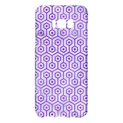 Hexagon1 White Marble & Purple Watercolor (r) Samsung Galaxy S8 Plus Hardshell Case  by trendistuff