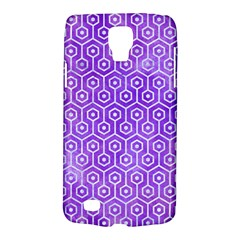 Hexagon1 White Marble & Purple Watercolor Galaxy S4 Active