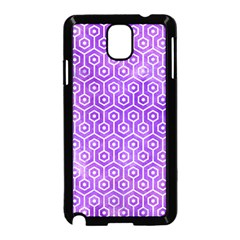 Hexagon1 White Marble & Purple Watercolor Samsung Galaxy Note 3 Neo Hardshell Case (black) by trendistuff