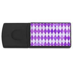 Diamond1 White Marble & Purple Watercolor Rectangular Usb Flash Drive by trendistuff