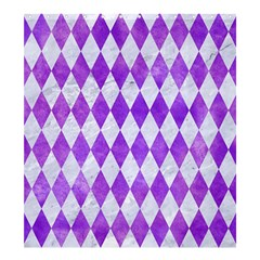 Diamond1 White Marble & Purple Watercolor Shower Curtain 66  X 72  (large)  by trendistuff