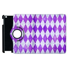 Diamond1 White Marble & Purple Watercolor Apple Ipad 2 Flip 360 Case by trendistuff