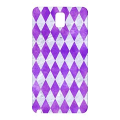 Diamond1 White Marble & Purple Watercolor Samsung Galaxy Note 3 N9005 Hardshell Back Case