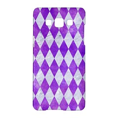 Diamond1 White Marble & Purple Watercolor Samsung Galaxy A5 Hardshell Case  by trendistuff
