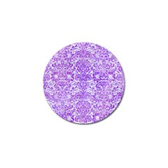 Damask2 White Marble & Purple Watercolor (r) Golf Ball Marker by trendistuff