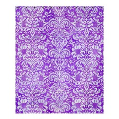 Damask2 White Marble & Purple Watercolor Shower Curtain 60  X 72  (medium)  by trendistuff