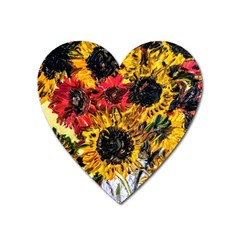 Sunflowers In A Scott House Heart Magnet by bestdesignintheworld
