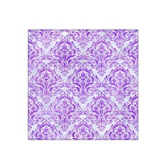 Damask1 White Marble & Purple Watercolor (r) Satin Bandana Scarf by trendistuff