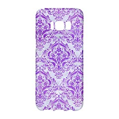 Damask1 White Marble & Purple Watercolor (r) Samsung Galaxy S8 Hardshell Case