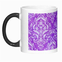 Damask1 White Marble & Purple Watercolor Morph Mugs by trendistuff