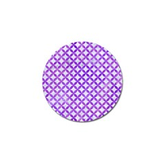 Circles3 White Marble & Purple Watercolor (r) Golf Ball Marker by trendistuff