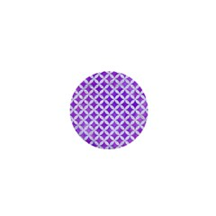 Circles3 White Marble & Purple Watercolor 1  Mini Buttons by trendistuff