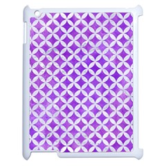 Circles3 White Marble & Purple Watercolor Apple Ipad 2 Case (white) by trendistuff