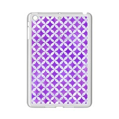 Circles3 White Marble & Purple Watercolor Ipad Mini 2 Enamel Coated Cases by trendistuff