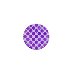 Circles2 White Marble & Purple Watercolor (r) 1  Mini Buttons by trendistuff