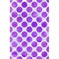 Circles2 White Marble & Purple Watercolor (r) 5 5  X 8 5  Notebooks by trendistuff