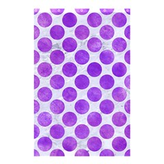 Circles2 White Marble & Purple Watercolor (r) Shower Curtain 48  X 72  (small)  by trendistuff