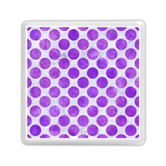 Circles2 White Marble & Purple Watercolor (r) Memory Card Reader (square)  by trendistuff