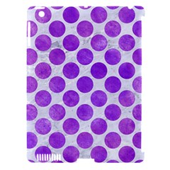 Circles2 White Marble & Purple Watercolor (r) Apple Ipad 3/4 Hardshell Case (compatible With Smart Cover) by trendistuff