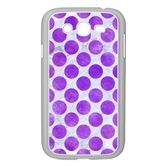 Circles2 White Marble & Purple Watercolor (r) Samsung Galaxy Grand Duos I9082 Case (white) by trendistuff