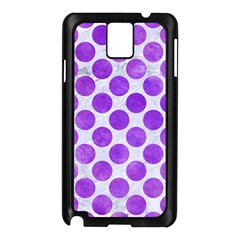 Circles2 White Marble & Purple Watercolor (r) Samsung Galaxy Note 3 N9005 Case (black) by trendistuff