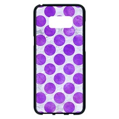 Circles2 White Marble & Purple Watercolor (r) Samsung Galaxy S8 Plus Black Seamless Case by trendistuff