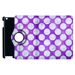 Circles2 White Marble & Purple Watercolor Apple Ipad 2 Flip 360 Case by trendistuff