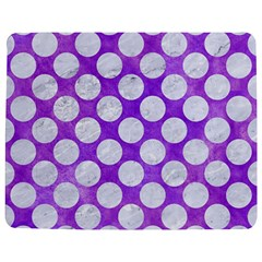Circles2 White Marble & Purple Watercolor Jigsaw Puzzle Photo Stand (rectangular) by trendistuff