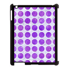 Circles1 White Marble & Purple Watercolor (r) Apple Ipad 3/4 Case (black) by trendistuff