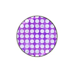 Circles1 White Marble & Purple Watercolor Hat Clip Ball Marker by trendistuff