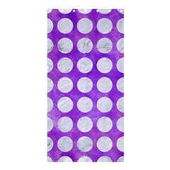 Circles1 White Marble & Purple Watercolor Shower Curtain 36  X 72  (stall)  by trendistuff