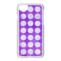 Circles1 White Marble & Purple Watercolor Apple Iphone 8 Seamless Case (white)