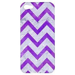 Chevron9 White Marble & Purple Watercolor (r) Apple Iphone 5 Hardshell Case by trendistuff