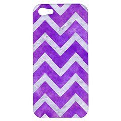 Chevron9 White Marble & Purple Watercolor Apple Iphone 5 Hardshell Case by trendistuff