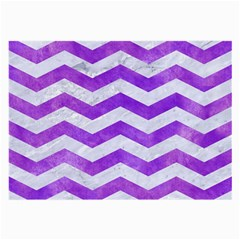 Chevron3 White Marble & Purple Watercolor Large Glasses Cloth by trendistuff